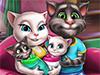 Кошка Анжела и близнецы