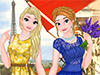Сёстры Анна и Эльза во Франции