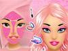 Макияж: Черный и розовый