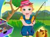 Джульетта ловит рыбу