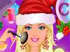 Новогодний макияж Барби