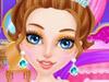 Принцесса в салоне делает макияж