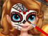 София в Хэллоуин: Face Art