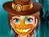Анна: Рисунок на лице в Хэллоуин