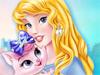Принцесса Аврора и котёнок