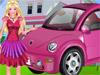 Барби: Уборка в машине