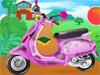 Барби чистит велосипед