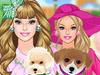Барби и щенок