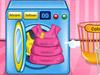 Малышка Барби стирает одежду