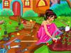 Барби: Уборка в саду