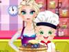 Эльза готовит панкейки