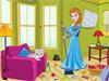 Эльза делает уборку