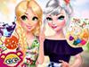 Рапунцель и Эльза: Цветочные наряды