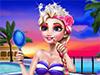 Эльза: Пляжный макияж