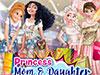 Наряды принцесс мам и дочек